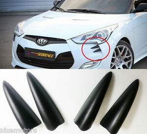 Sequence-Devil-Claw-Bumper-Molding-4EA-For-Hyundai-Veloster-Turbo-2012-2017