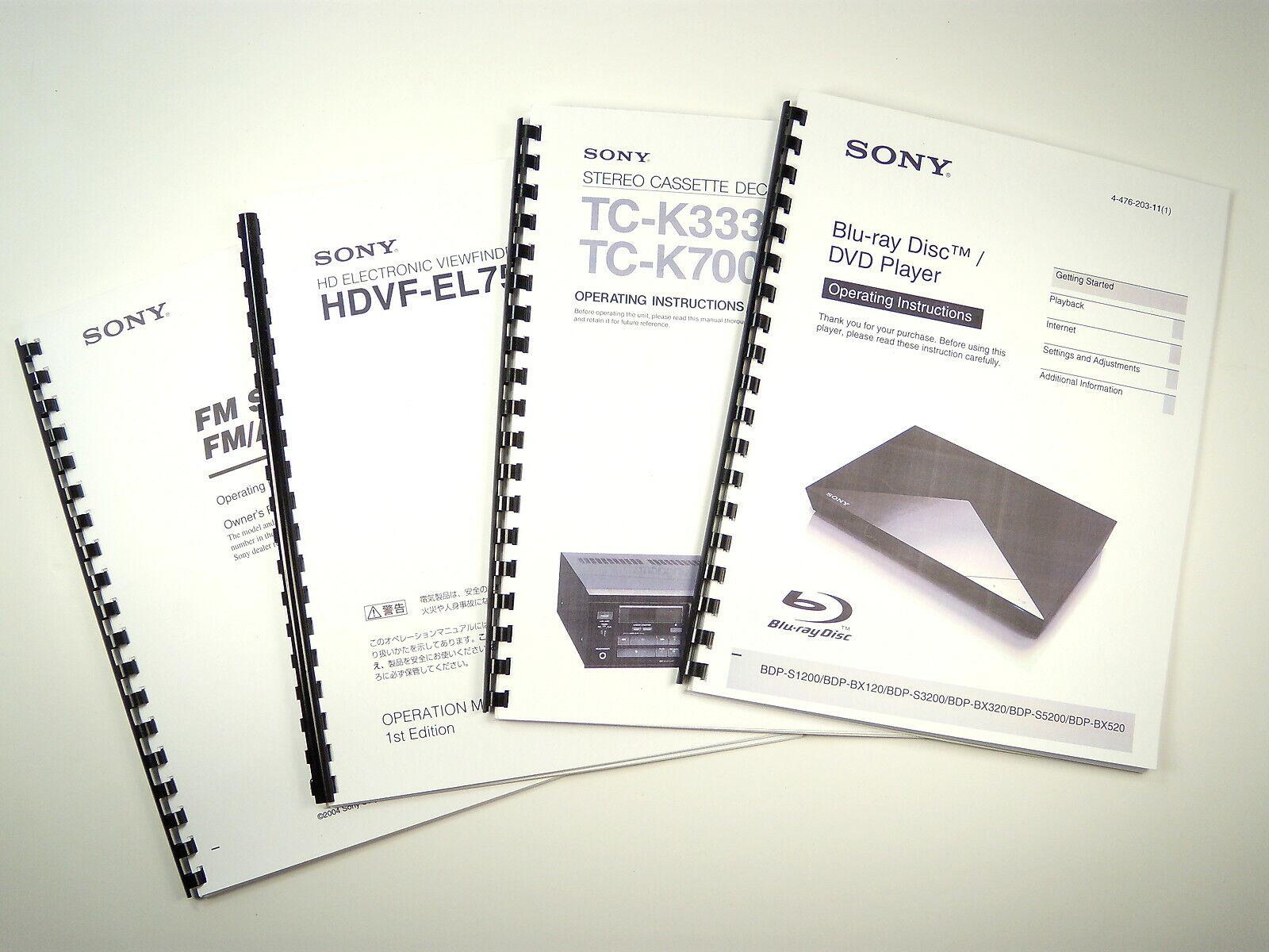 Sony STR-DE685 AV Receiver Owners Manual