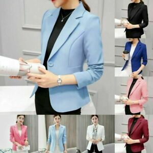 Autumn-Women-Long-Sleeve-Slim-Work-Business-Suit-Coat-Jacket-Blazer-Coats-Blouse