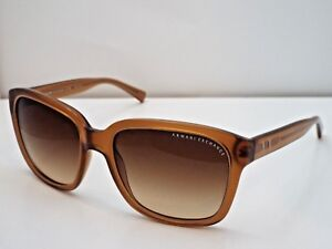 96e95cde2901 Authentic Armani Exchange AX 4002 8013 13 Brown Clear Brown Gradient ...