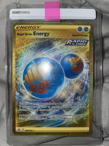 Pokemon Rapid Strike Energy Secret Rare Battle Styles NM 182/163
