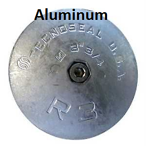 "R3 Rudder /& Trim Tab Aluminum Anode 3-3//4/"" Diameter NEW DEALER DIRECT"