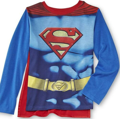 Justice League Superman Costume Pajamas 3pcs set w Cape Size 8 Med New Sleepwear