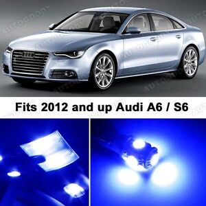 9 X Premium Blue Led Lights Interior Package Upgrade For Audi A6 682526671119 Ebay