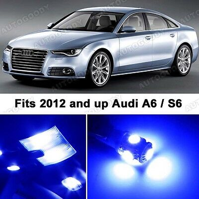 9 x Premium Blue LED Lights Interior Package Upgrade for Audi A6