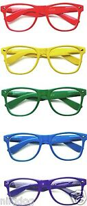 Fashion-Sunglasses-Assorted-Glossy-Frames-NO-Lenses-Retro-Geek-Nerd
