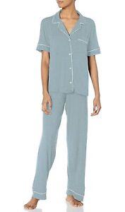 Eberjey-Women-039-s-Gisele-Short-Sleeve-amp-Pant-Pajama-Sleepwear-Set-Slate-Ivory