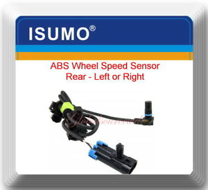 20938122 ABS Wheel Speed Sensor Rear Left or Right fits for GMC Yukon XL 1500 Yukon Cadillac Escalade 2007-2014 Chevrolet Suburban 1500 Avalanche 2007-2013 Tahoe 2007-2014 15121067 20763147 ALS1464