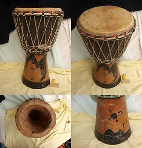 DJEMBE  / TAM TAM / ART AFRICAIN / H 45 cm MUSIQUE PERCUSSIONS ORCHESTRE