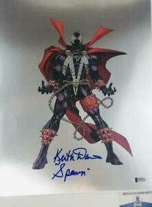 Keith-David-signed-SPAWN-11X14-chrome-photo-BAS-COA-H32771