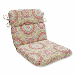 Pillow Perfect Delancey Jubilee Outdoor Rounded Corners Patio Chair