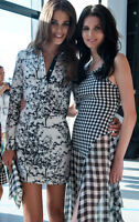 DVF Diane von Furstenberg LONDON Shirt Dress Sz 0,2,4,6 Black White Floral NWT