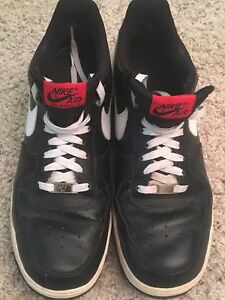 Mens Details Low Air White 82 Black 5 Red 11 Sz Sneakers Vintage Force About Euc Nike One 3j45cARqL