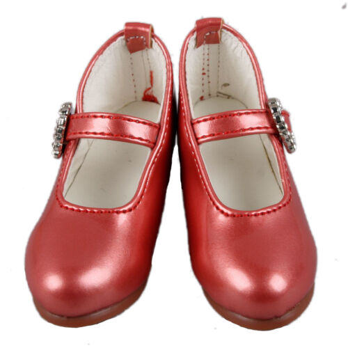 1//4 Red Synthetic Leather Shoes For MSD AOD DOD BJD Dollfie PF