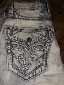 Rock Revival Jeans Botas Para Hombre 30x32 Ebay