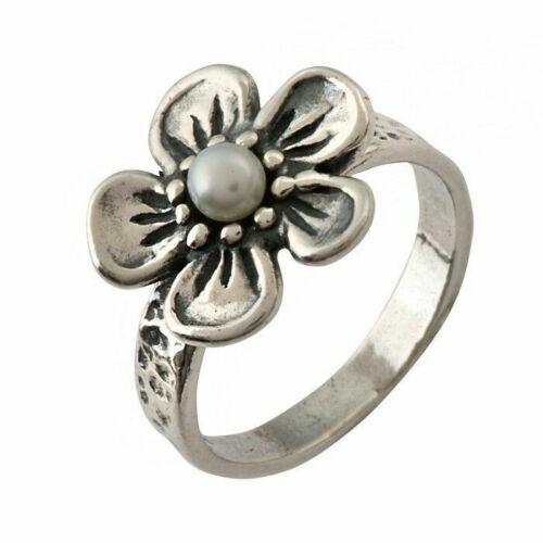 New SHABLOOL Israel Ring Freshwater White Stone Nature Jewelry Women
