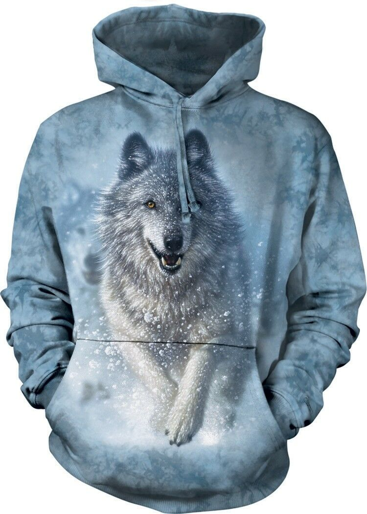 Snow Plow Adult Wolf Hoodie the Mountain