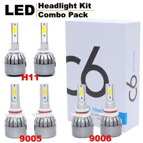 72W 7600LM C6 LED Headlight Kit H1//H4//H7//H8//H11//H13//880//881//9005//9006//9004//9007