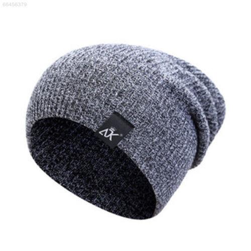 37C9 Men/'s Women Beanie Knit Ski Cap Hip-Hop Blank Color Winter Warm  Wool Hat
