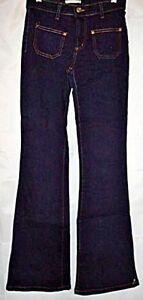 Forever-21-Jeans-Flare-Stretch-Front-Pockets-Dark-Blue-Wash-Denim-Juniors-size-1