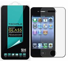 TechFilm® Tempered Glass Screen Protector Saver Shield For Apple iPhone 4 / 4S