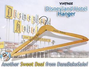 Disneyland-Hotel-Wooden-Vintage-Hanger-in-Excellent-Condition