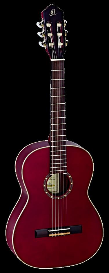 Ortega R121 3 4 WR Konzertgitarre, Weinrot