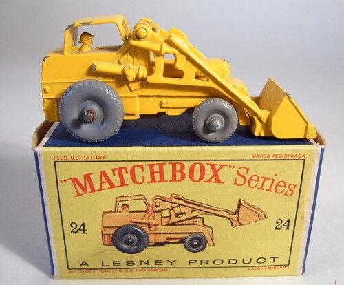 disfrutando de sus compras Matchbox Matchbox Matchbox RW 24b Excavator grises ruedas fino 36 perfil  suministro directo de los fabricantes