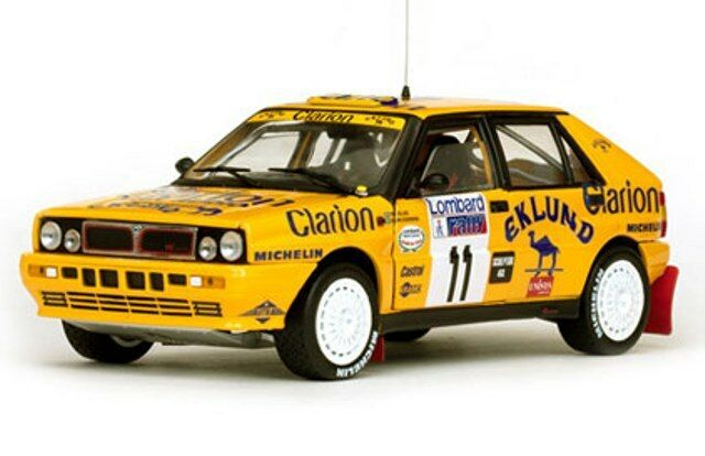 Sunstar 3128 lancia delta integrale rally voiture eklund cederberg rac 1989 1:18th | Exquis Art