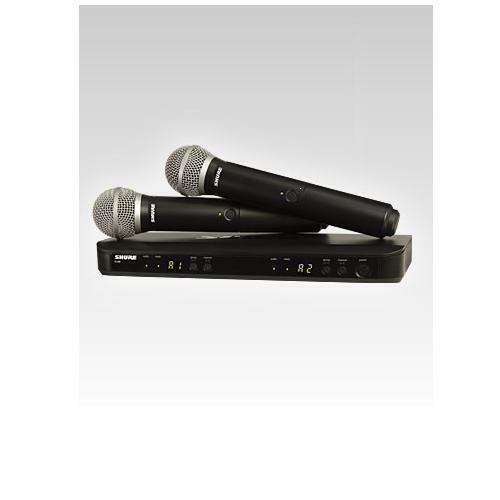 Shure BLX288 PG58-H9 Dual Wireless Handheld Mic System New