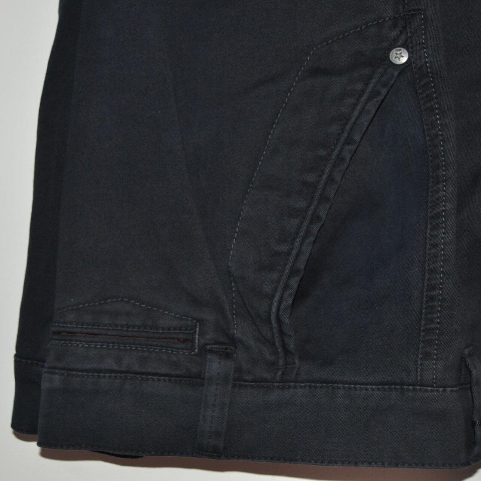 Pantalone uomo uomo uomo TAGLIE FORTI taglia 59 cotone elasticizzato calibrato nero 148c65