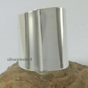 925-Sterling-Silver-Wide-Cigar-Cuff-Ring-Band-Statement-Ring-Boho-Chic-Jewelry