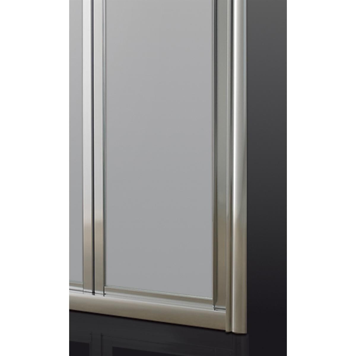 Porta doccia a soffietto cm 70 70 70 profilo cromo cristallo satinato 6 mm h.195 cm d5ca12