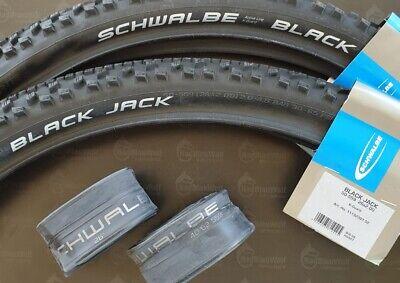 Schwalbe Schläuche 2 x Schwalbe Black Jack MTB Fahrrad Reifen 26x2.00 50-559