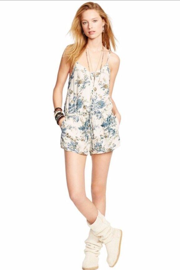 Denim & Supply Ralph Lauren Floral Romper WHITE X-Large