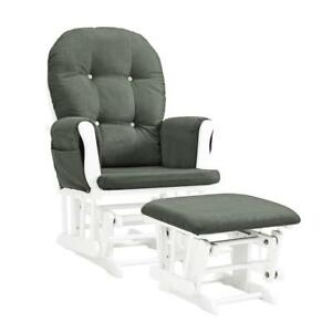 Image Is Loading Glider Chair And Ottoman Nursery Rocking Furniture Baby