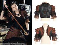 RQ-BL Steampunk Bolero Harness Brown Jacket Victorian Shrug Gothic Punk  SP117