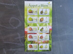 2015-LUXEMBOURG-FRUIT-VARIETIES-BOOKLET-OF-10-MINT-STAMPS