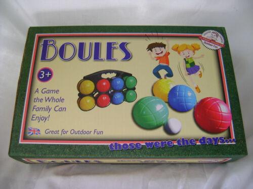 NEU Boule Set mit acht Bälle Eins Jack & schwarz Tragetasche ACK