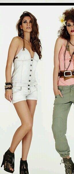 Denny pink tuta jumpsuit jeans tg S
