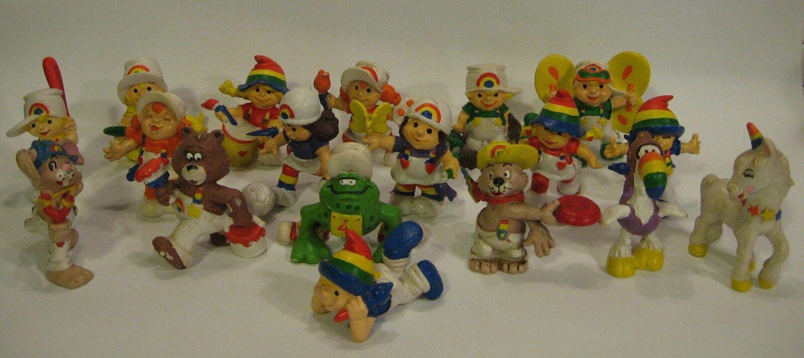 Rare RAINBOW KIDS, 18 PVC FIGURES, W. Berrie, MAIA & BORGES (M+B) PORTUGAL,1981.
