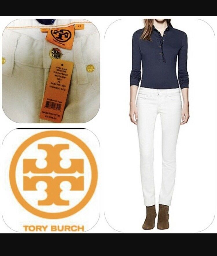 199 Tory Burch Super Skinny Jeans In White size 23