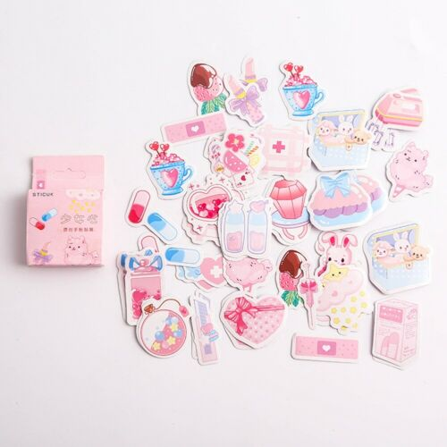 40Pcs//Pack Paper Stickers Washi Kawaii Stationery Deco DIY Scrapbooking Sticker