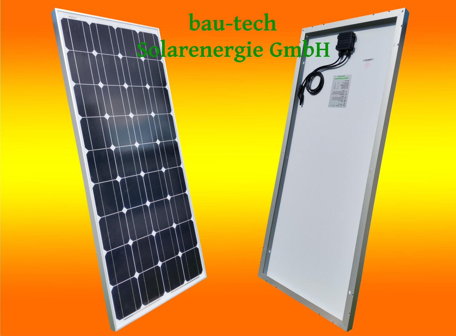 100W 100Watt Solarmodul 12V Monokristallin Solarpanel Camping Wohnmobil Caravan