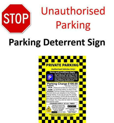 Parking Enforcement Sign