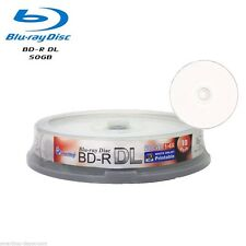 10 Pack SmartBuy Blu-ray BD-R DL Dual Layer 6X 50GB White Inkjet Printable Disc