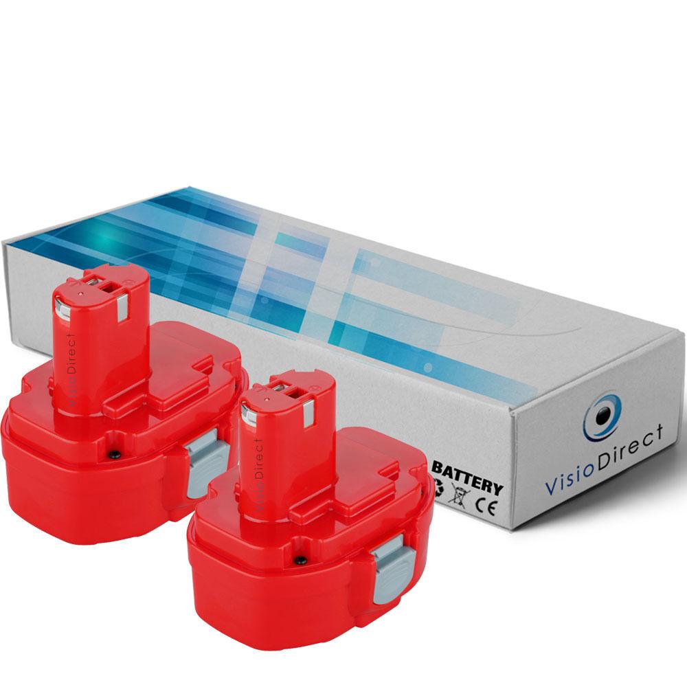 Lot de 2 batteries 14.4V 3000mAh pour MAKITA 6236DWDE - Société Française -