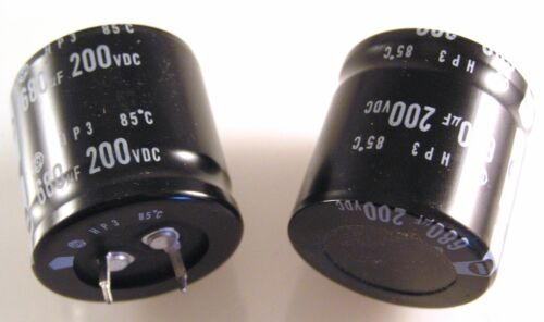 Hitachi Electrolytic Capacitors 680uf 200v 85/'C HP3 30 x 30mm 2 pieces OLA3-01