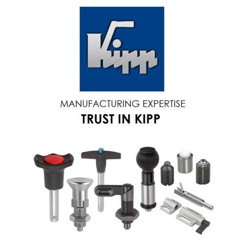 Kipp Clamp Lever Handle Indexing Ratchet  Handle Threaded Black M5 M6 M8 M10 M16