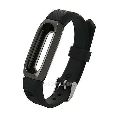 Replacement Wrist Strap Band W/ Metal Frame For Xiaomi Mi Band 2 Smart Bracelet